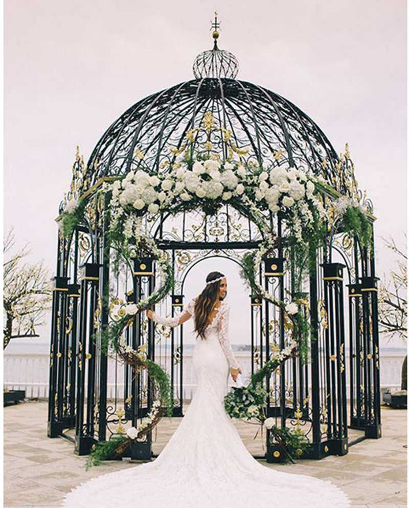 Beautiful-small-metal-decor-art-wrought-iron-gazebo-for-wedding-ceremony-for-sale-IOK-254