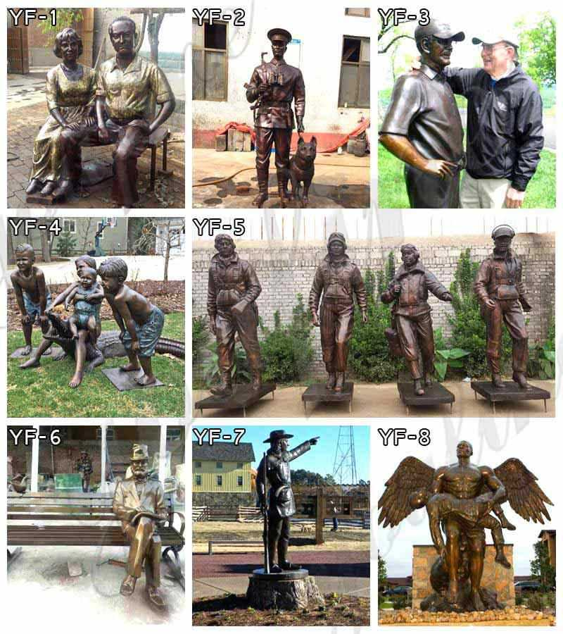 Custom Made Bronze Self Made Man Statue Replica Famous Casting Bronze Figure Statue for Sale