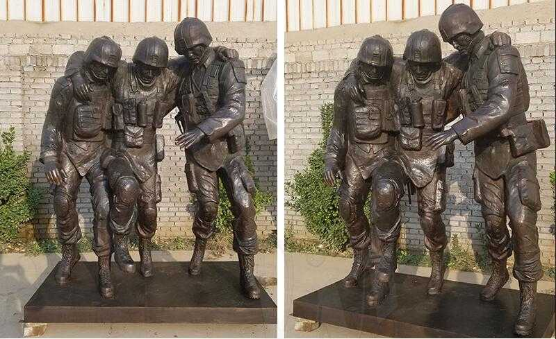 "Famous Bronze Outdoor Military Statue ""No One Left Behind""Statue Replica for Sale"