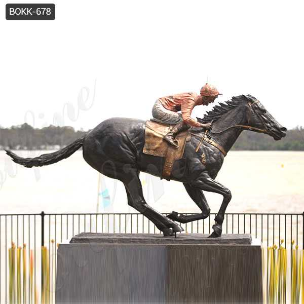 Famous Life Size Racing Horse Black Caviar Statue in Antique Bronze for Sale BOKK-678