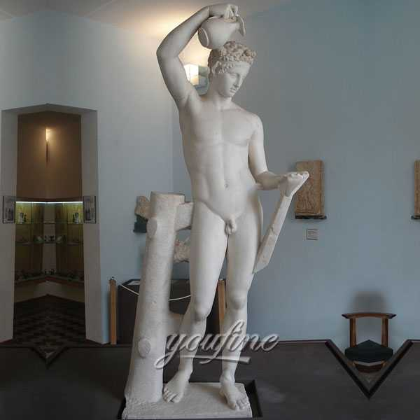 Famous Marble Carving Sculptures of Sátiro Escanciador Le Satyre Verseur Hand Carved Statue for Sale-MOKK-233