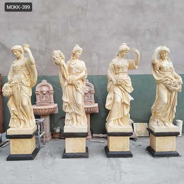Life Size Marble Four Goddesses of the Seasons Statues for Outdoor Garden Decor for Sale MOKK-399
