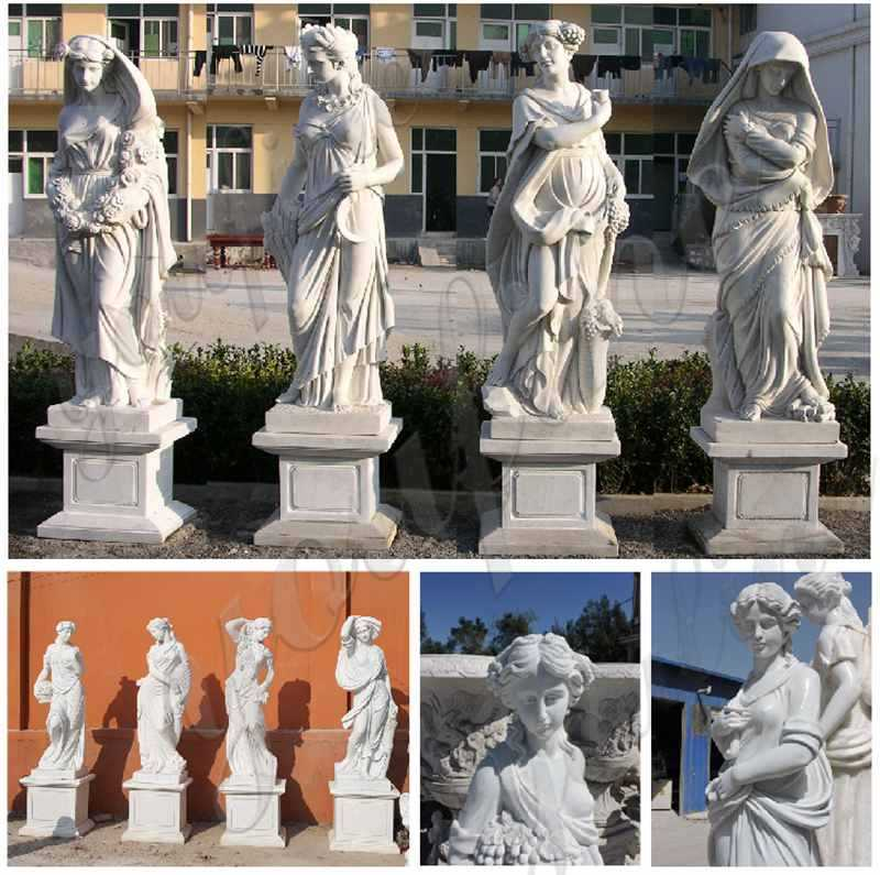 Life Size the Four Goddesses of the Seasons Marble Statues for Outdoor Decor