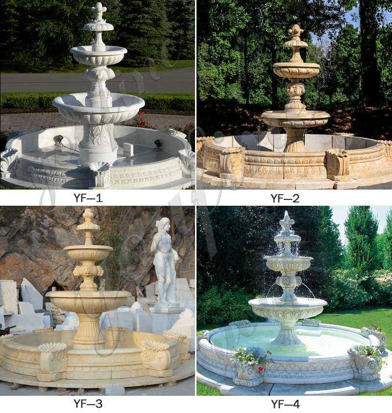 MOKK-96 3 Tiered Outdoor Marble Fountain