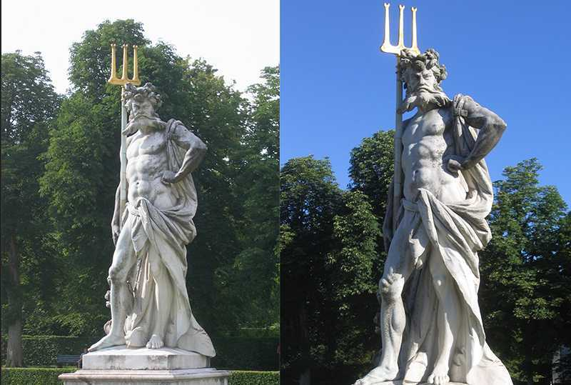 Marble Nymphenburg Statue