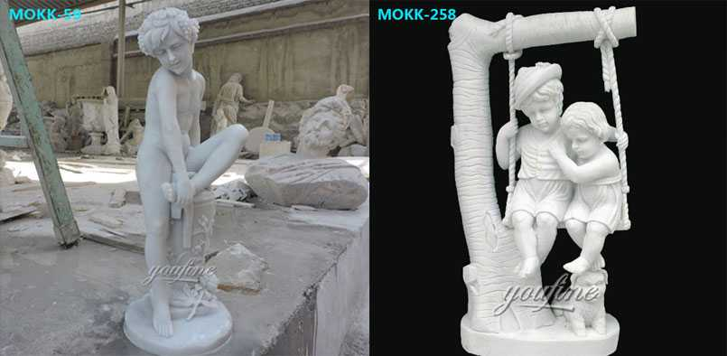 Marble-Statue-Boy-with-thorn-statue-for-sale