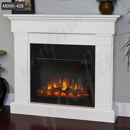 Modern White Marble Fireplace Mantel For Home for Sale MOKK-428