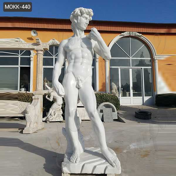 World Famous Michelangelo's Marble David Statue Replica Life Size Outdoor Garden Statues for Sale MOKK-440