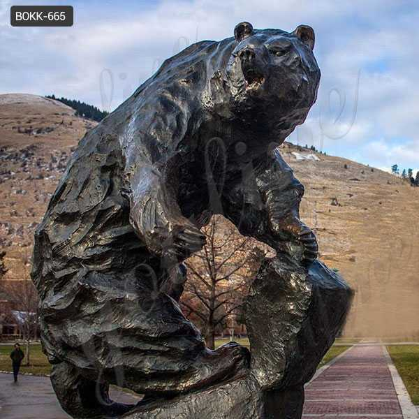 bronze bear sculpture for sale