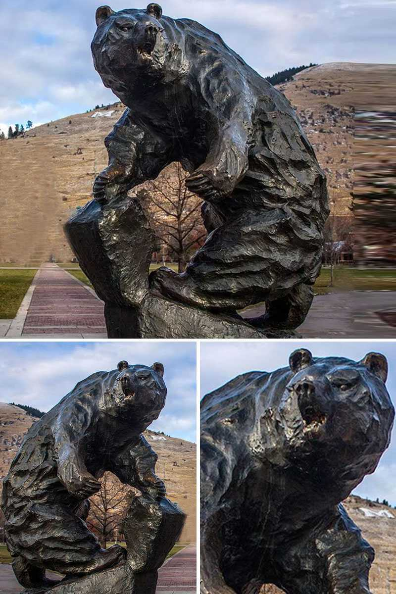 bronze bear statue for sale