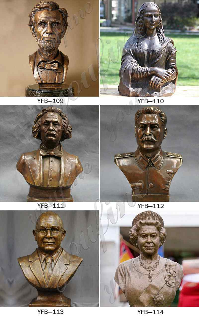 custom made bronze bust statue for sale