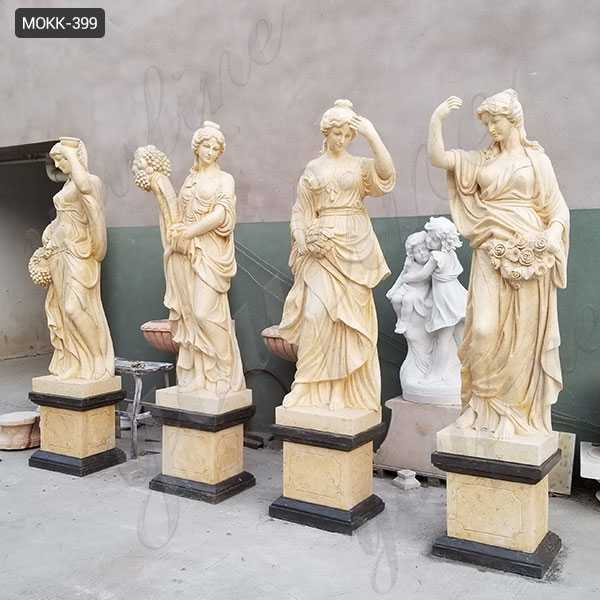 Life Size Marble Four Goddesses Of The Seasons Statues For