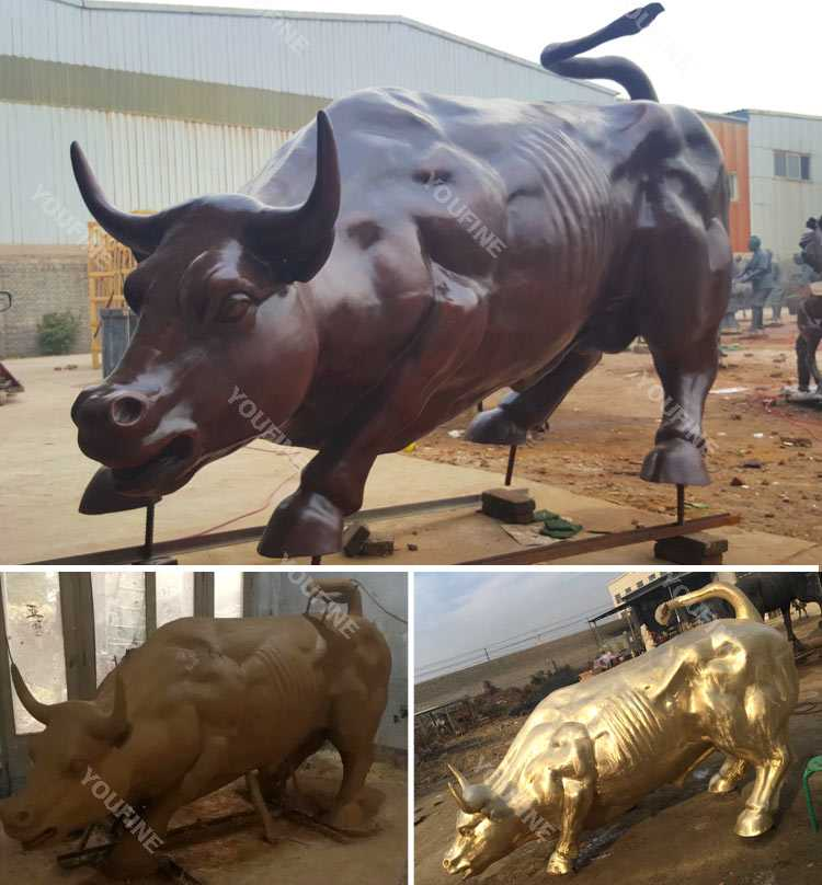 life size antique bronze bull statue for sale
