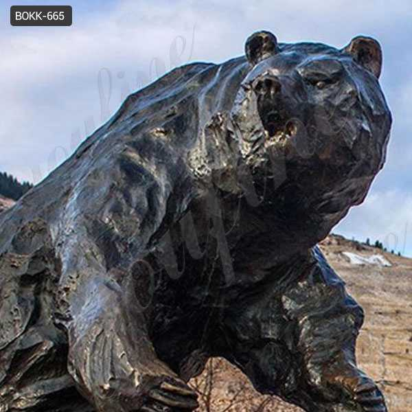 life size bronze bear sculpture for outdoor for sale