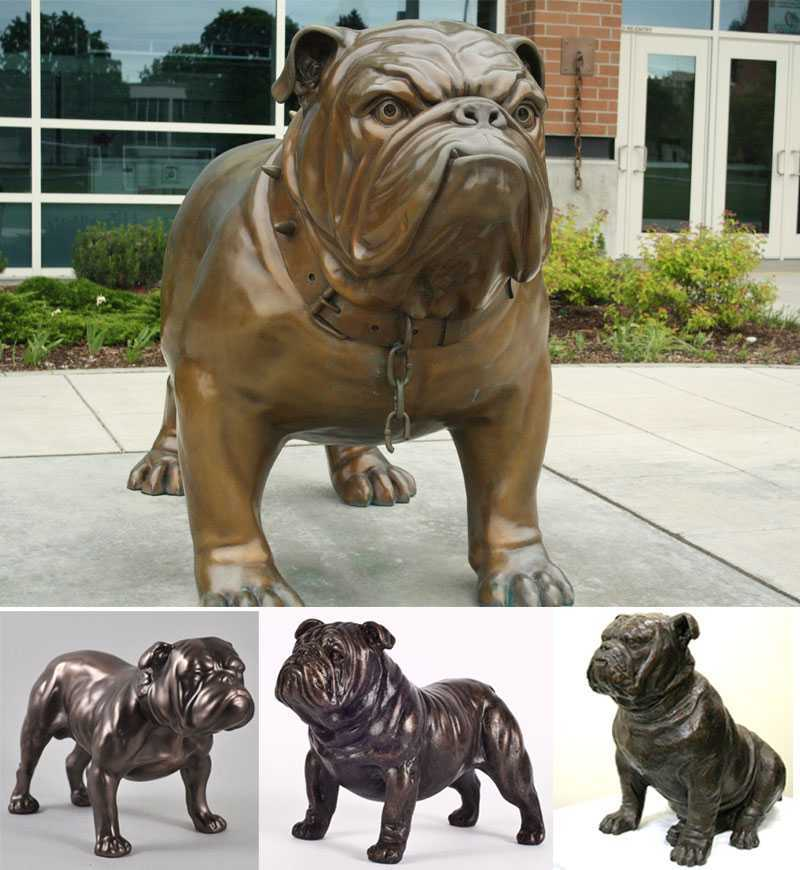 outdoor-bronze-bulldog-statue-lawn-ornament