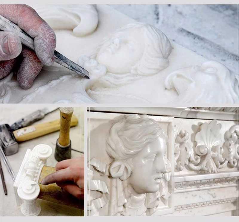 process of four season maidens sculpture