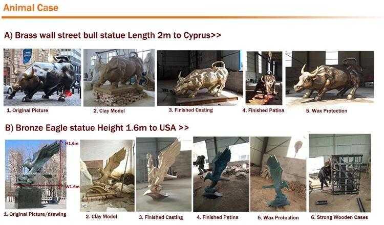 process of casting bronze animal wall street bull sculpture for garden