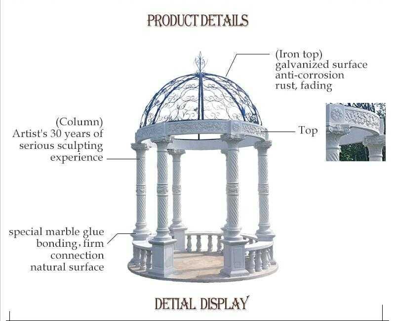 Detail of marble gazebo