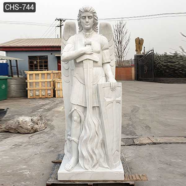 Famous Marble Archangel Statue Catholic Saint Sculpture Design Replica for Sale CHS-744