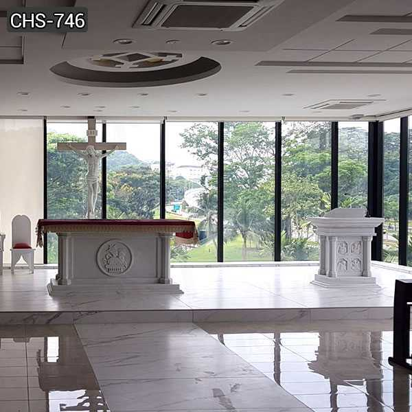 High Quality Marble Church Altars Designs for St Joseph Church from Singapore CHS-746