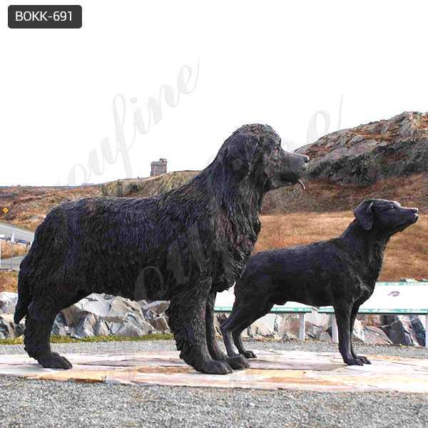 bronze newfoundland dog garden statue for sale BOKK-691