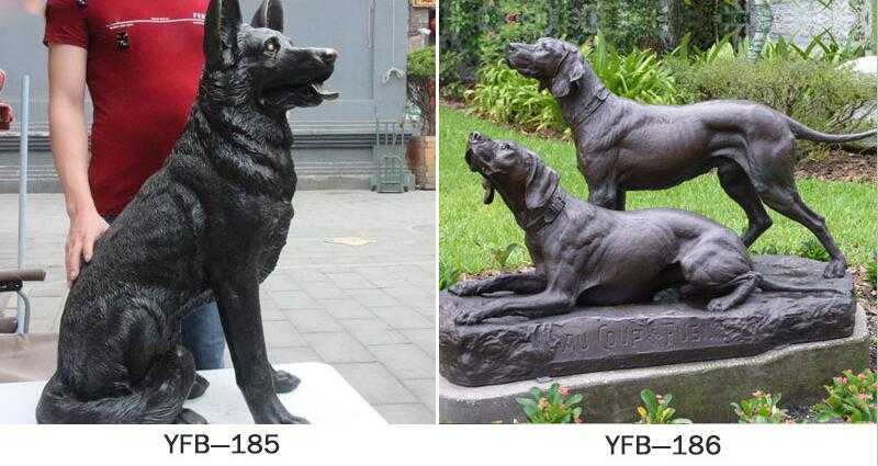 dog statues for home for sale