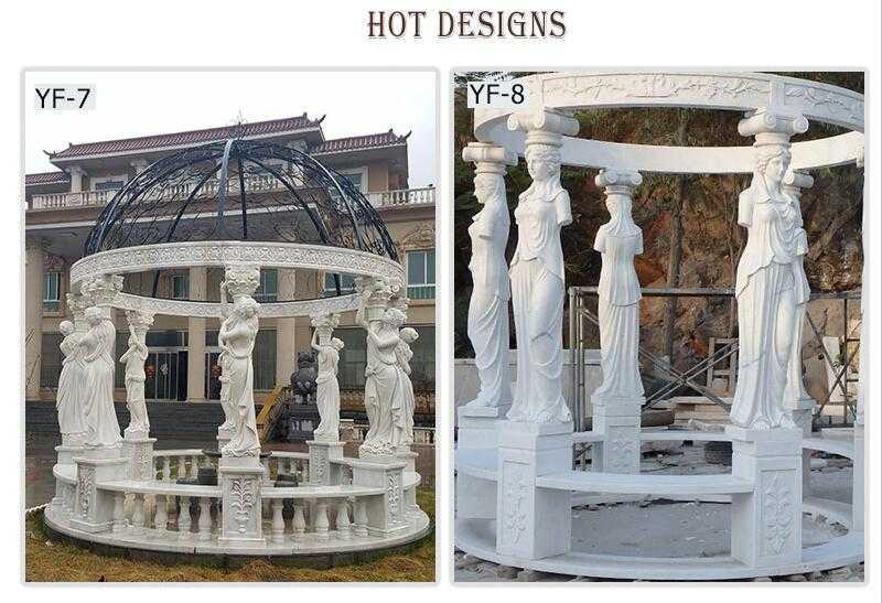 hand carved marble carved gazebo
