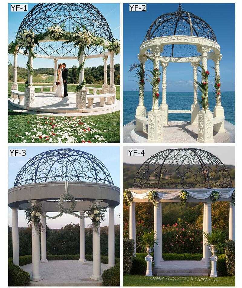 large outdoor marble gazebo for weddings for sale