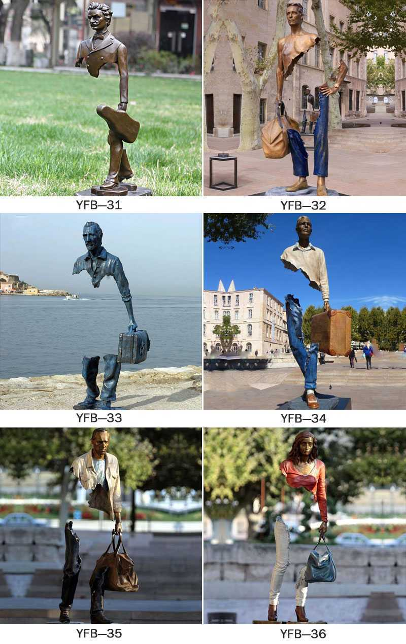 life size bruno catalano travellers