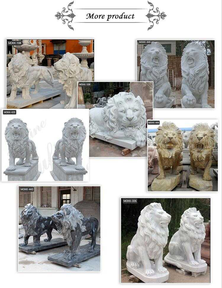 lion statues for front porch for sale