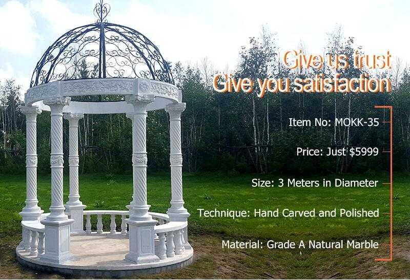 marble gazebo for backyard for sale