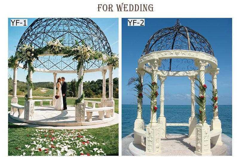 marble gazebo for wedding ceremony
