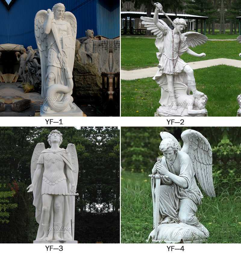 marble saint michael archangel statue for sale