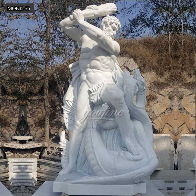 The Famous Hero Heracles Statue Life Size Marble Statues for Sale MOKK-75