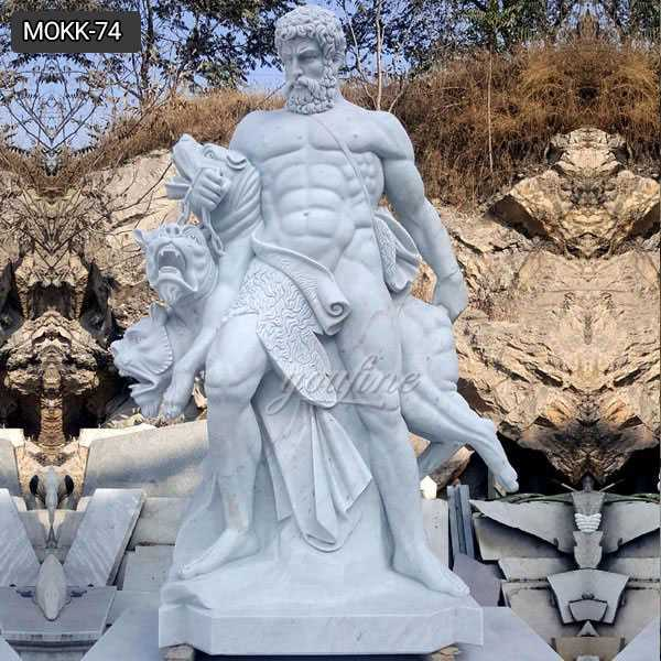 Hand Carved Large Size Famous Marble Hercules Statue for Sale MOKK-74