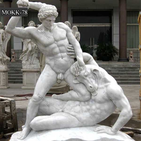 Famous Male Farnese Hercules Marble Sculpture for Sale MOKK-78