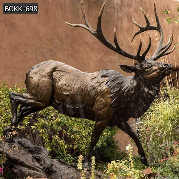 Large Bronze Elk Statue Outdoor Garden Wildlife Sculpture Design for Sale BOKK-698