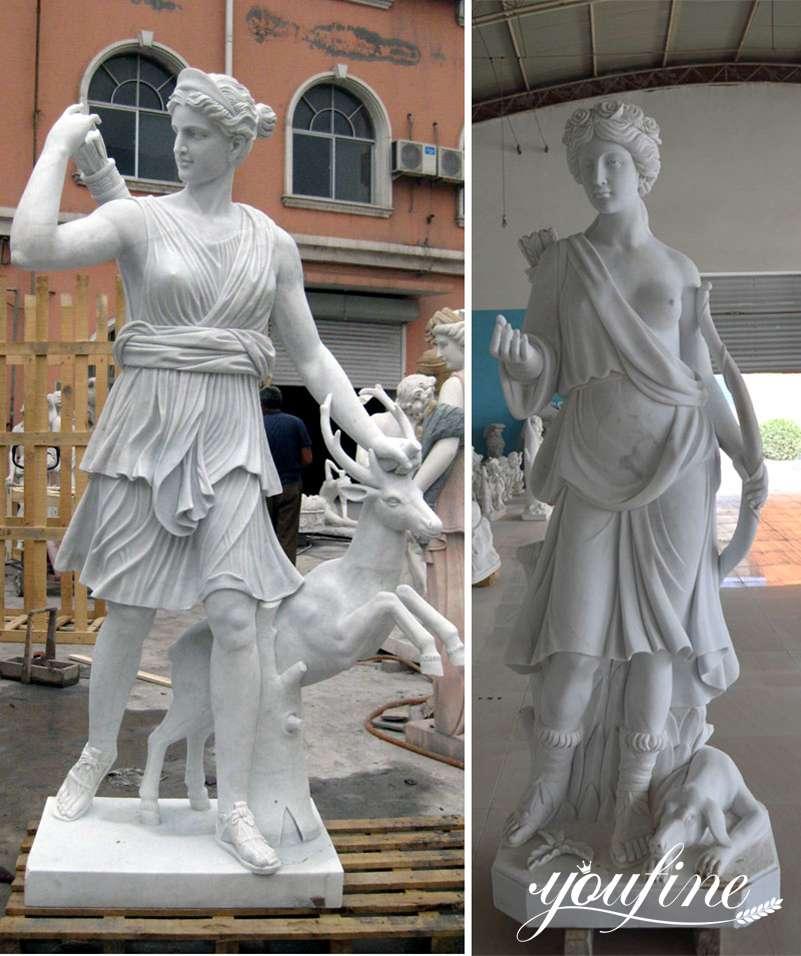 Marble Greek Mythology Artemis Statue for Sale for Home Decor