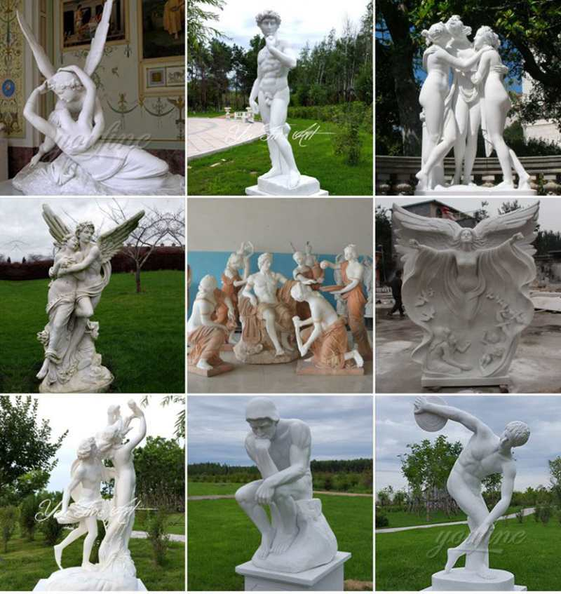 Natural Marble Famous Three Graces Statue for Sale