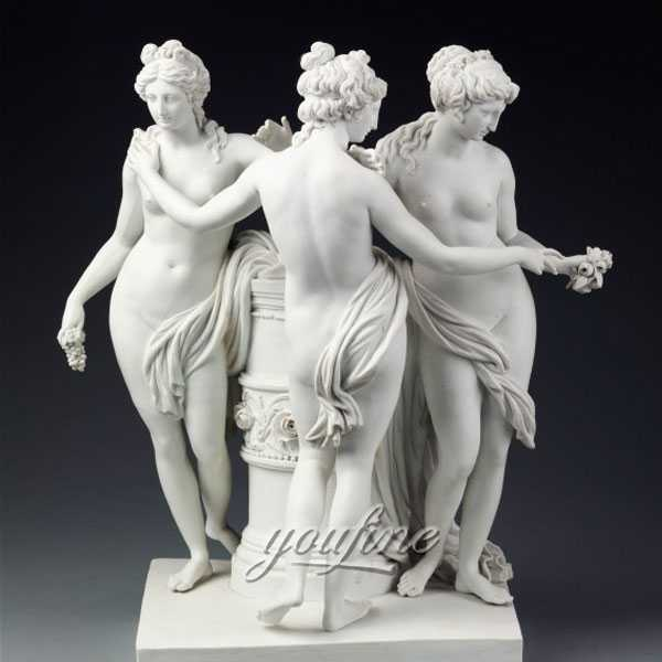 Natural Marble Famous Three Graces Statue for Sale MOKK-201