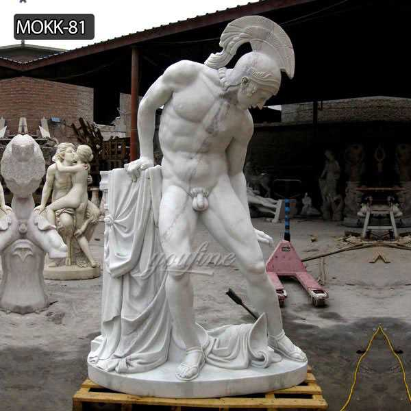 White Marble Life Size Ares God of War Statue for Sale MOKK-81