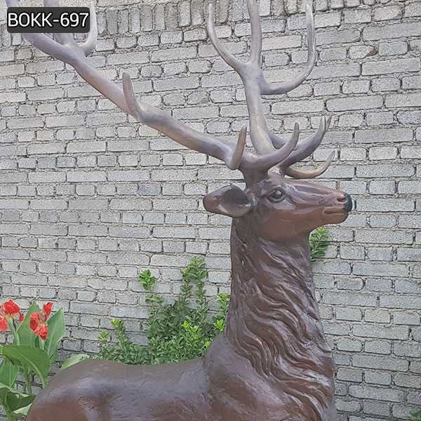 bronze stag statue for sale
