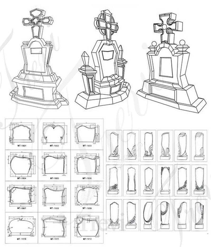 drawing of memorial angel statues