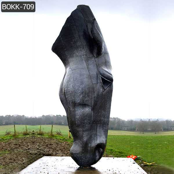 large bronze horse head statue for lawn decor for sale America BOKK-709