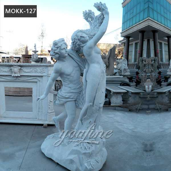 Life Size Famous Marble Apollo and Daphne Statue for Sale MOKK-127