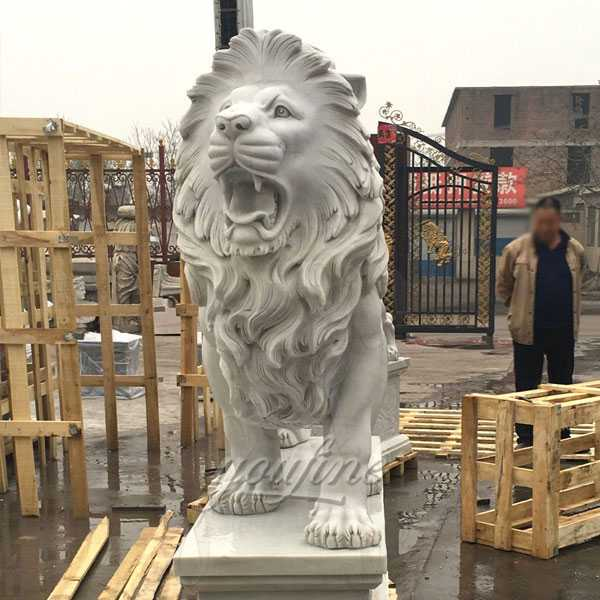 Natural Granite Antique Marble Animal Lion Statues for Sale Has Unique Characteristics