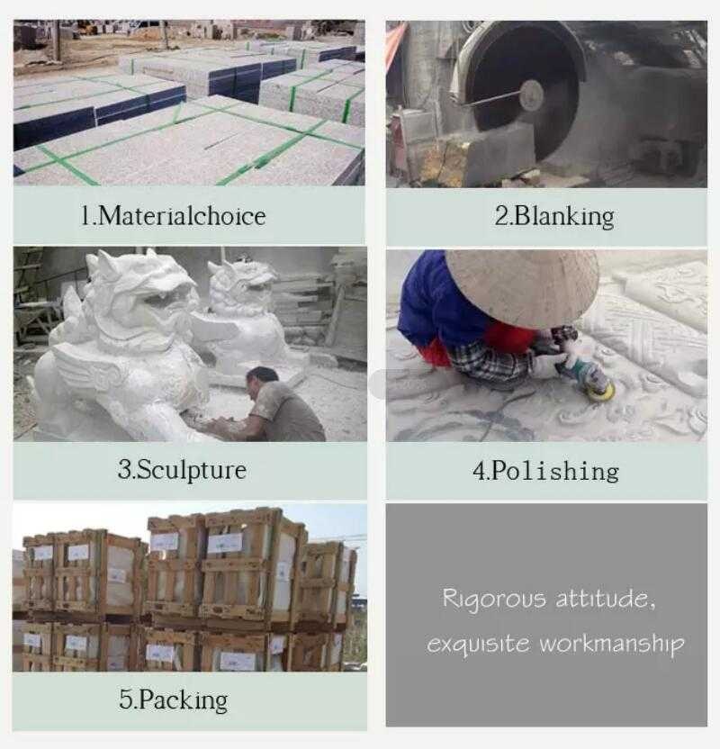 process of carving marble crafts