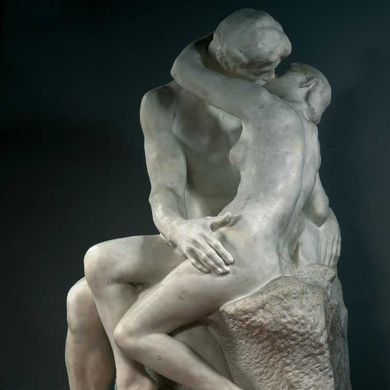 What is the Influence of Marble Rodin the Kiss Sculpture for Sale?