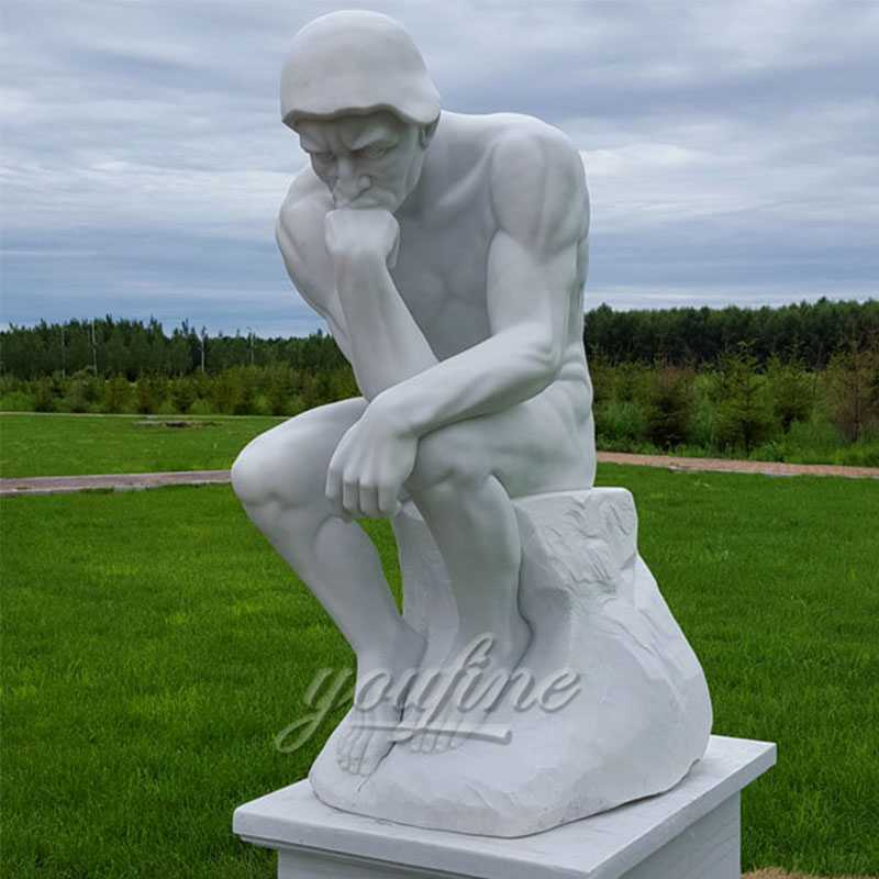 marble statue thinker