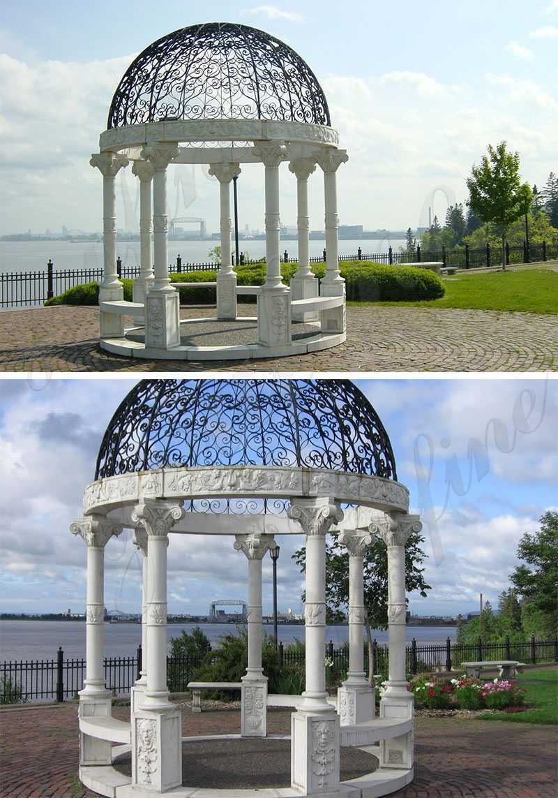 white marble gazebo for backyard for sale